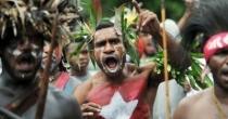 Protestation de papous à l'occasion du 50ème anniversaire de leurs revendications indépendantistes. (Credit- AFP)
