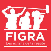 Logo FIGRA carré sur fond rouge